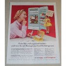 1954 Westinghouse Food File Refrigerator Color Print Ad