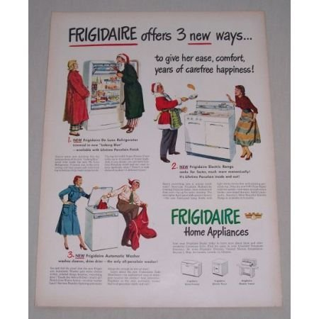 1949 Frigidaire Home Appliances Color Print Ad