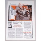 1932 Norge Rollator Refrigerator Color Print Ad - The Tropics