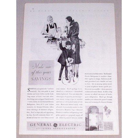 1931 General Electric All Steel Refrigerator Vintage Print Ad