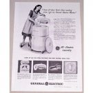 1948 General Electric Wringer Washer Vintage Print Ad - Quick Clean
