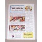 1945 Frigidaire Refrigerator Color Print Ad - Fight Food Waste