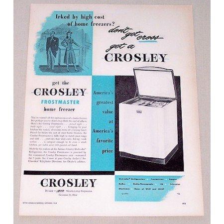 1948 Crosley Frostmaster Home Freezer Vintage Print Ad