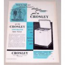 1948 Crosley Frostmaster Home Freezer Vintage Print Ad