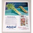 1953 Admiral Dual-Temp No Defrost Refrigerator Color Print Ad