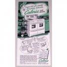 1952 Automatic Caloric Gas Range Vintage Print Color Ad