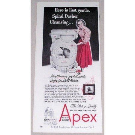1948 Apex Spiral Dasher Wringer Washer Vintage Print Ad