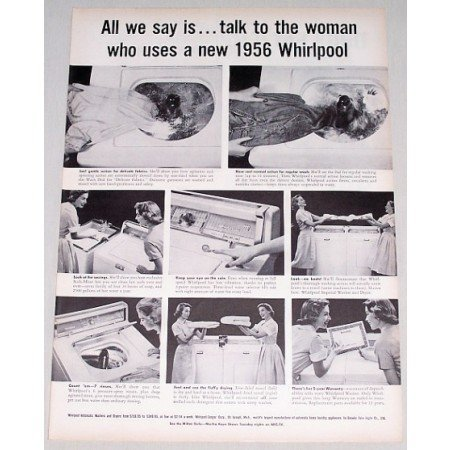 1956 Whirlpool Imperial Washer Vintage Print Ad - All We Say Is...