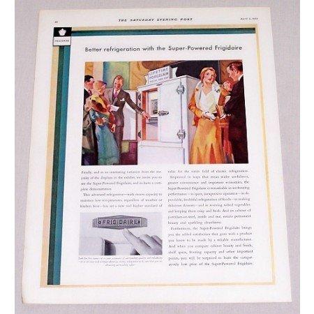1932 Super Powered Frigidaire Refrigerator Color Print Ad