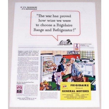 1944 Frigidaire Kitchen Appliances Color Print Ad - War Has Proved