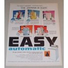1957 EASY Automatic Washer Color Print Ad - The Answer Is Easy