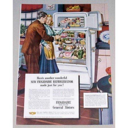 1948 Frigidaire Cold Wall Imperial Refrigerator Color Print Art Ad