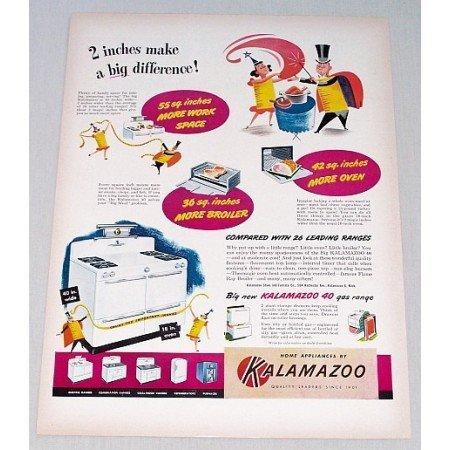 1948 Kalamazoo 40 Gas Range Color Print Ad