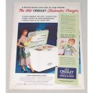 1950 Color Print Ad for 1951 Crosley Shelvador Home Freezer