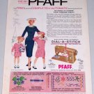 1955 Pfaff Automatic Zig Zag Sewing Machine Color Print Ad