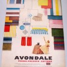 1957 Avondale Perma-Pressed Cottons Color Print Ad
