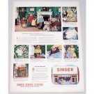 1948 Singer Sewing Centers Color Print Ad Best Dressed