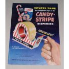 1949 Textell Adhesive Tape Candy Stripe Dispenser Color Print Ad