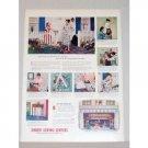 1948 Singer Sewing Centers Vintage Print Color Ad