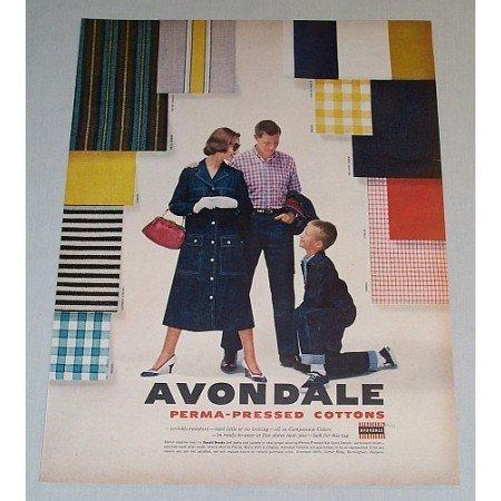 1957 Avondale Perma Press Cottons Vintage Print Ad