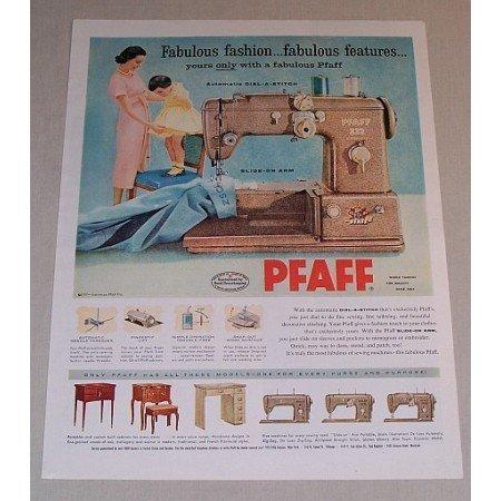 1957 Pfaff 332 Automatic Sewing Machine Color Print Ad