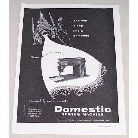 1953 Domestic Sewing Machine Vintage Print Ad - Simply Wonderful