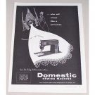 1953 Domestic Sewing Machine Vintage Print Ad - Simply Wonderful