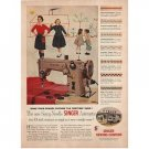 1955 Swing Needle Singer Automatic Sewing Machine Color Print Ad