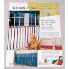 1956 Indian Head Cotton Fabric Color Print Ad - Cafe Curtains