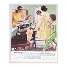 1963 Simplicity Patterns Vintage Color Print Ad - Sewing Bee 63 Style
