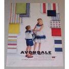 1958 Avondale Perma Pressed Cottons Color Print Ad