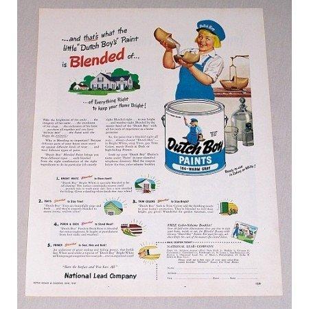 1949 Dutch Boy Warm Gray Paints Color Print Ad