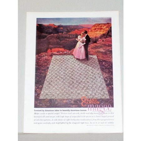 1957 Grand Canyon By Magee Carpets Color Print Ad