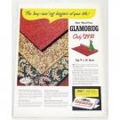 1948 Wool Face Glamorug Woven Rugs Color Print Ad
