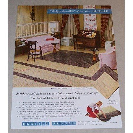 1957 Kentile Vinyl Tile Floors Color Print Ad