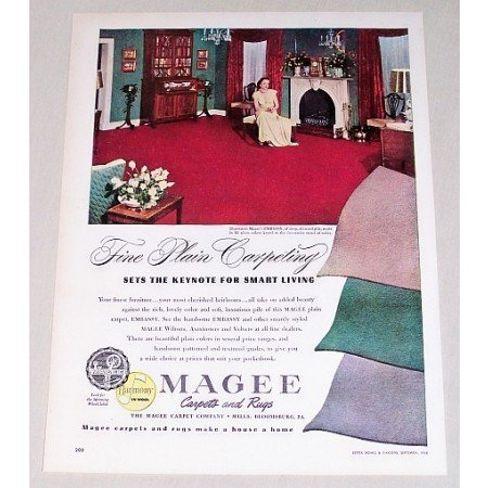 1948 Magee Embassy Carpets Rugs Color Print Ad