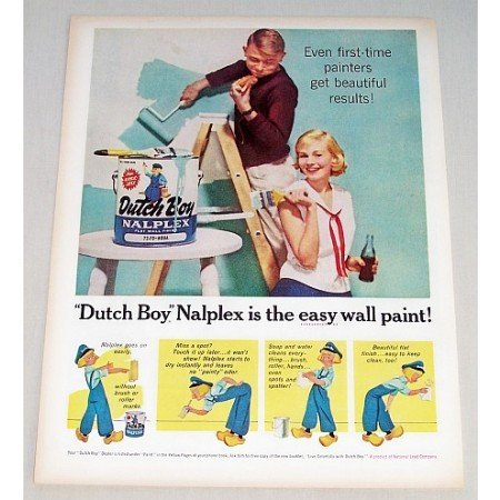 1959 Dutch Boy Nalplex Wall Paint Color Print Ad