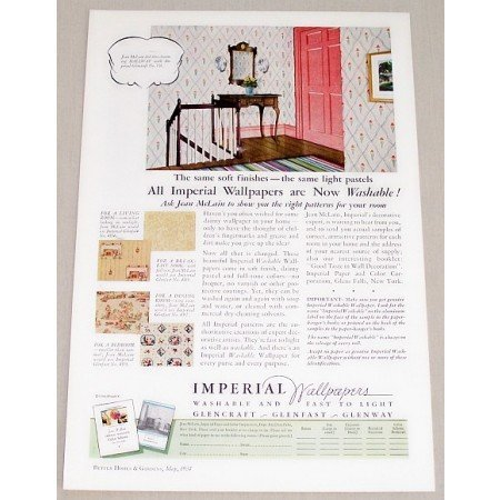 1934 Imperial Wallpapers Color Print Ad