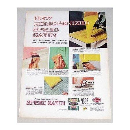 1963 Glidden Homogenized Spred Satin Paint Color Print Ad