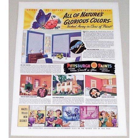 1939 Pittsburgh Paints Vintage Print Ad - Nature's Glorious Colors