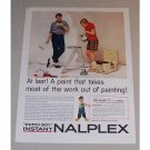 1958 Dutch Boy Instant Nalplex Paint Color Print Ad