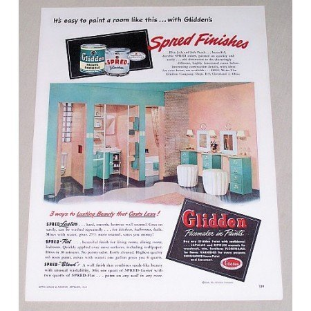 1948 Glidden Paints Color Print Ad - Spred Finishes