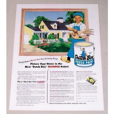 1948 Dutch Boy House Paint Color Vintage Print Ad - Picture Your Home