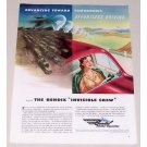 1944 Bendix Corp. Color Wartime Color Print Art Ad INVISIBLE CREW