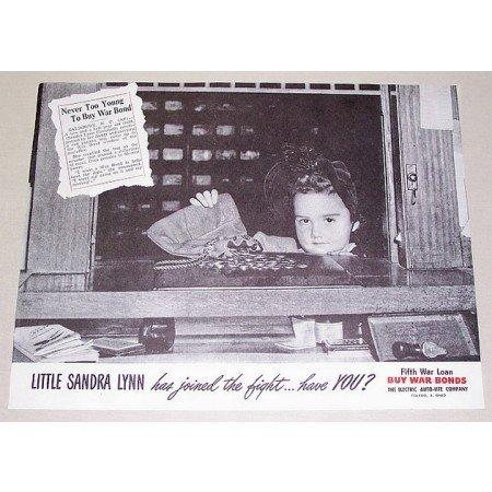 1944 Electric Auto Lite Co. Wartime Vintage Print Ad BUY WAR BONDS