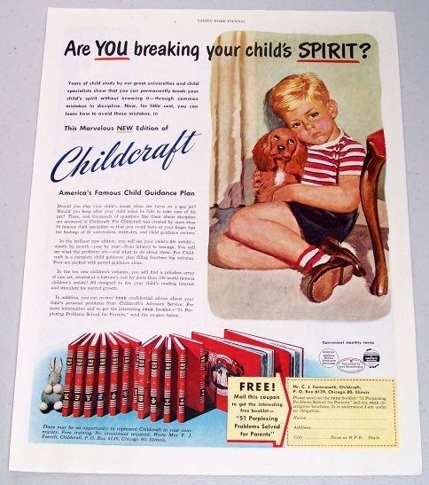 1950 Childcraft Child Guidance Book Plan Color Print Art Ad