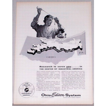 1955 Ohio Edison Systems Research Vintage Print Ad