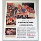 1946 Studebaker Color Print Ad - Unchanged In Changing World