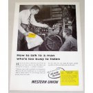 1954 Western Union Telegram Vintage Print Ad - How To Talk..