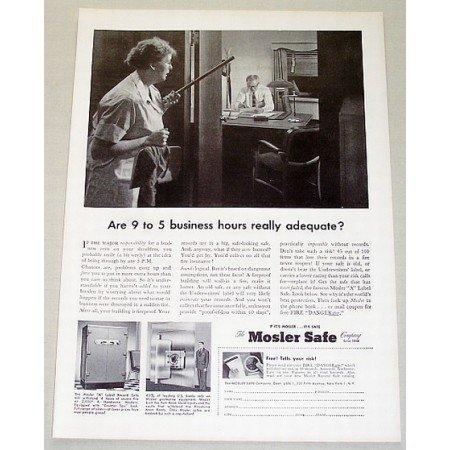 1955 Mosler Safe Company Mosler A Label Safe Vintage Print Ad